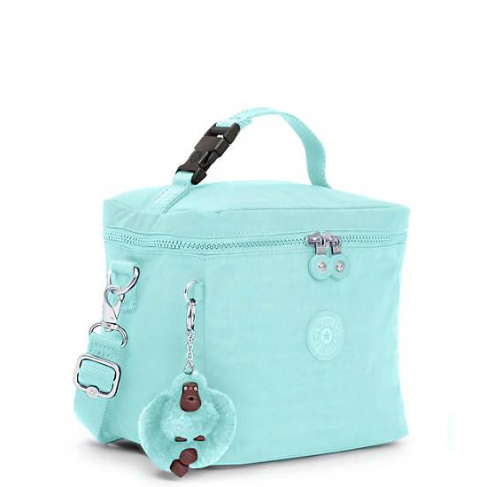Graham Lunch Bag,Fresh Teal Tonal Zipper,large