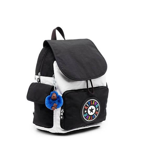 City Pack Medium Backpack,Black white Combo,large