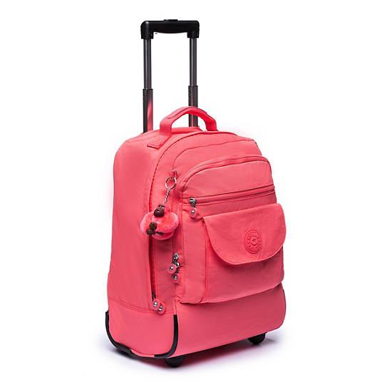 Sanaa Large Rolling Backpack,Grapefruit Tonal Zipper,large