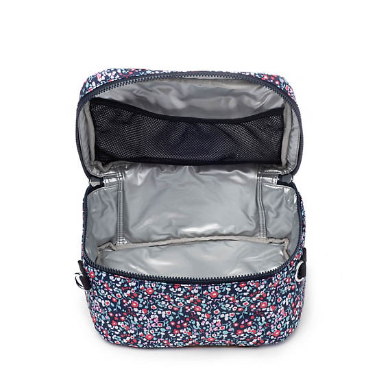 Miyo Printed Lunch Bag,Glistening Poppy  Blue,large