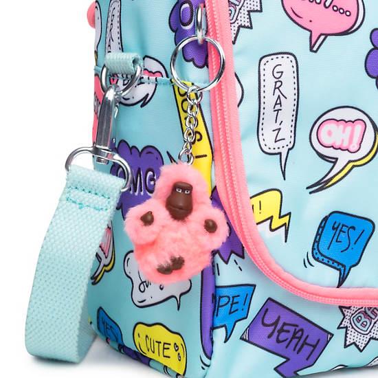 Kichirou Printed Lunch Bag,Talking Bubbles,large