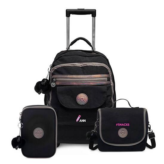 Sanaa Large Rolling Backpack,Black,large