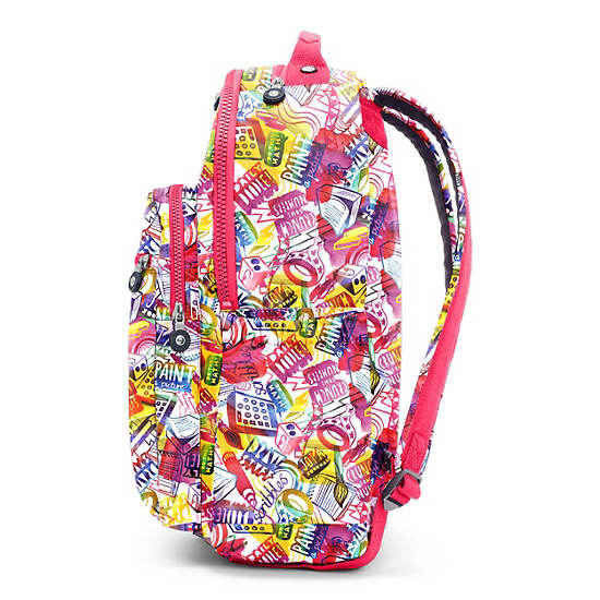 "Seoul Go Large Printed Laptop 15"" Backpack,Doodle Print,large"