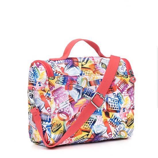 Kichirou Printed Lunch Bag,Doodle Print,large
