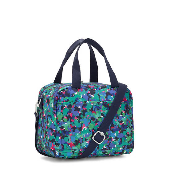Miyo Printed Lunch Bag,Neon Frills,large