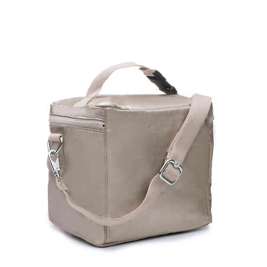 Metallic Lunch Bag,Cloud Grey Metallic,large