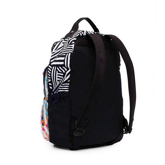 Seoul Go Large Printed Laptop Backpack,Black Print Combo,large