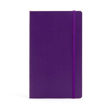 POPPIN MEDIUM SOFT COVER NOTEBOOK - Purple