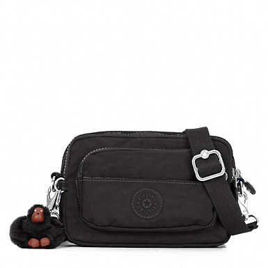 Merryl 2-in-1 Convertible Crossbody Bag - Black Tonal Zipper