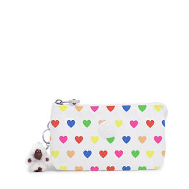 Creativity Large Pouch - Wild Hearts White