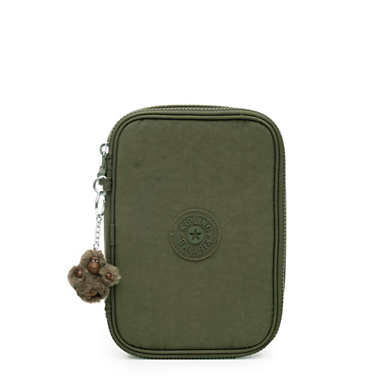 100 Pens Case - Jaded Green Tonal Zipper