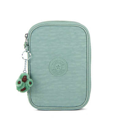 100 Pens Case - Fern Green Tonal Zipper