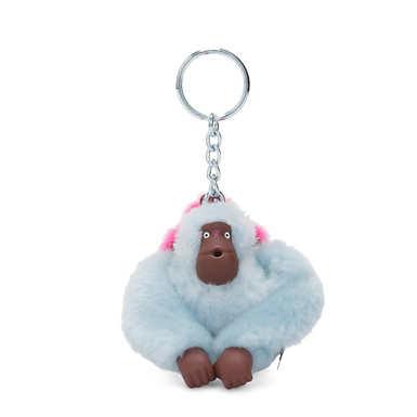 Mom and Baby Sven Monkey Keychain - Fancy Blue