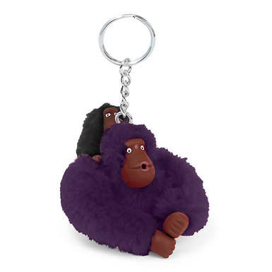 Baby Monkey Keychain - Deep Purple