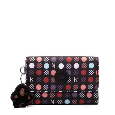 Pixi Medium Organizer Wallet - Multi Dots Red