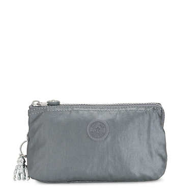 Creativity Large Metallic Pouch - Steel Grey Metal