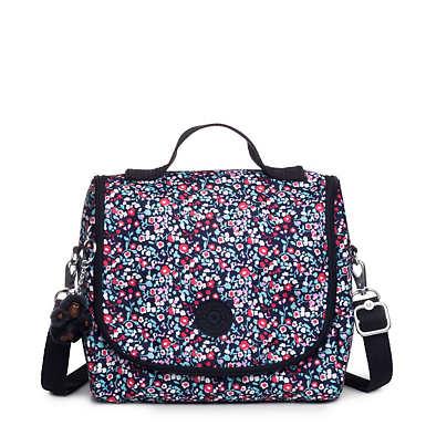 Kichirou Printed Lunch Bag - Glistening Poppy  Blue