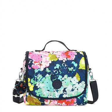 Kichirou Printed Lunch Bag - Luscious Florals Blue