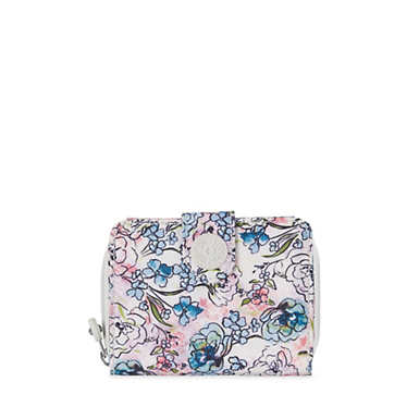 New Money Small Printed Credit Card Wallet - Floral Tapestry