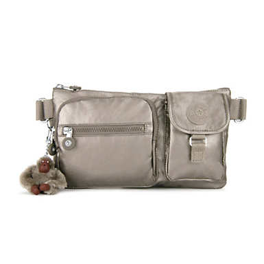 Presto Convertible Metallic Belt Bag - Metallic Pewter