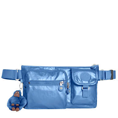 Presto Convertible Metallic Belt Bag - Metallic Scuba Diver Blue