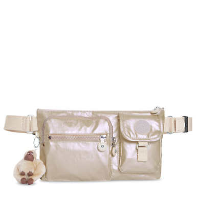 Presto Convertible Metallic Belt Bag - Sparkly Gold