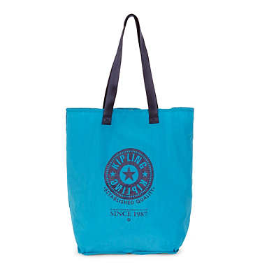 Hip Hurray Foldable Tote Bag - Polaris Blue