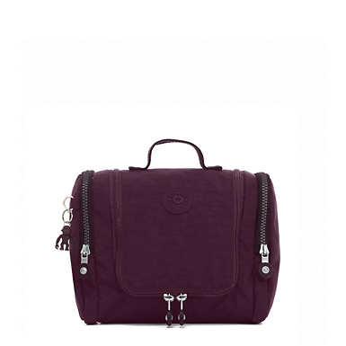 Connie Hanging Toiletry Bag - Dark Plum