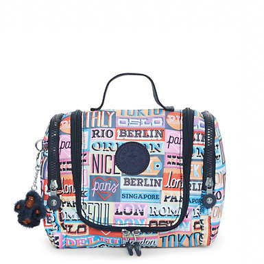 Connie Printed Hanging Toiletry Bag - Hello Weekend