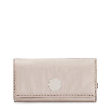 New Teddi Metallic Snap Wallet - Metallic Glow