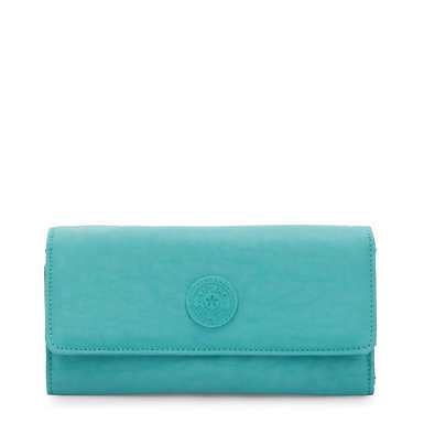 New Teddi Snap Wallet - Seaglass Blue