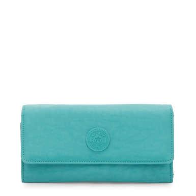 New Teddi Snap Wallet - Seaglass Blue