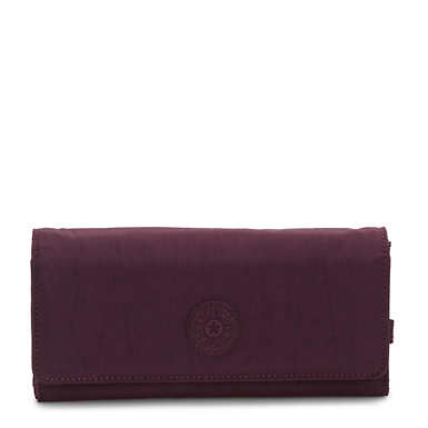 New Teddi Snap Wallet - Dark Plum
