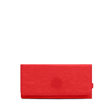 New Teddi Snap Wallet - Cherry Tonal Zipper