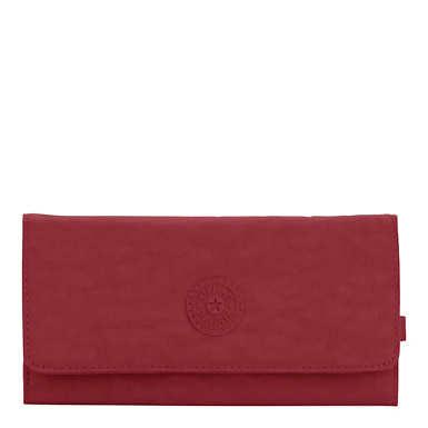 New Teddi Snap Wallet - Brick Red
