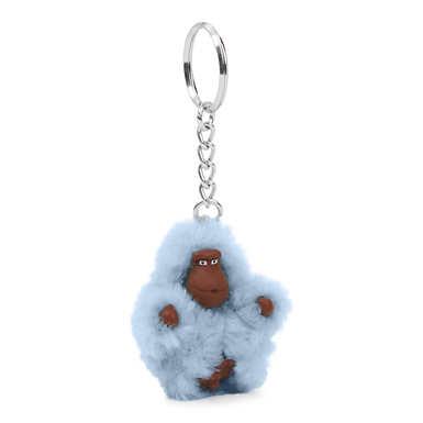 Extra Small Monkey Keychain - Cozy Blue