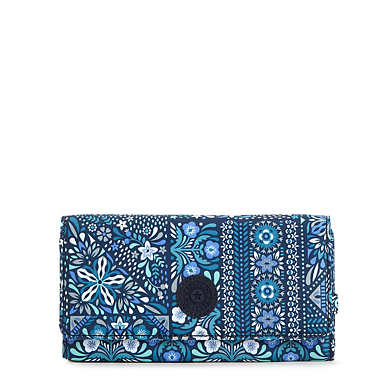 New Teddi Printed Snap Wallet - Dizzy Darling Blue