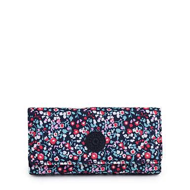 New Teddi Printed Snap Wallet - Glistening Poppy  Blue