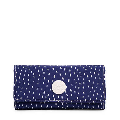 New Teddi Printed Snap Wallet - Surreal Dot