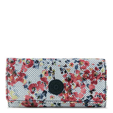 New Teddi Printed Snap Wallet - Busy Blossoms