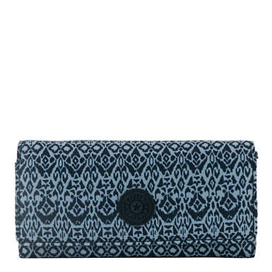 New Teddi Printed Snap Wallet - Geometric Bliss
