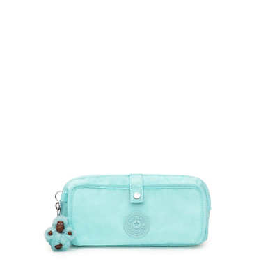 Wolfe Pencil Pouch - Fresh Teal Tonal Zipper