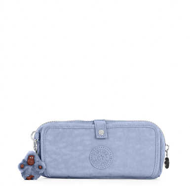 Wolfe Roll-Up Pencil-Makeup Pouch - Belgian Blue