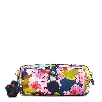 Wolfe Printed Pencil Pouch - Luscious Florals Blue