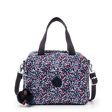 Miyo Printed Lunch Bag - Glistening Poppy  Blue