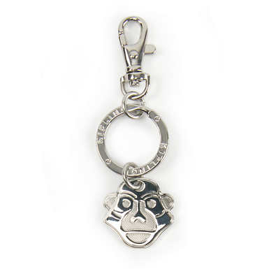Monkey Face Key Charm - Silver
