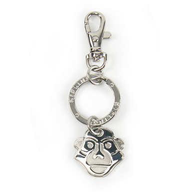 Monkey Face Keychain - Silver
