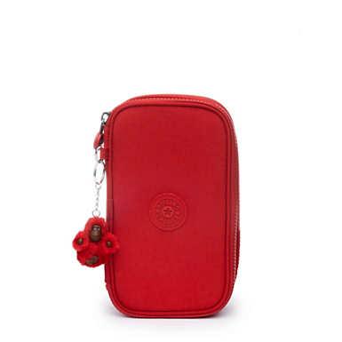 50 Pens Case - Cherry Tonal Zipper