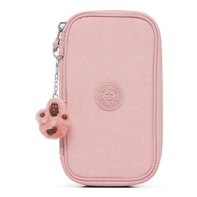 50 Pens Case - Strawberry Pink Tonal Zipper