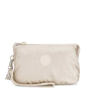 Creativity Extra Large Metallic Wristlet - Cloud Metal